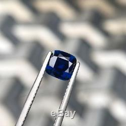 1.79 ct Natural Unheated Blue Sapphire Cushion Cut GIA Certified Flawless