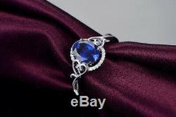 1.80CT 14KT White Gold Natural Blue Tanzanite EGL Certified Diamond Ring