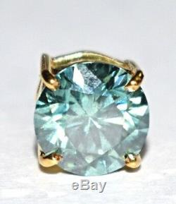 1.85 ct Blue Diamond Pendant in 14kt Gold, AAA. Certified. Gift for wife