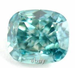 1.86 CT Loose Natural Diamond Fancy vivid Blue Cushion Cut IGI Certified RARE