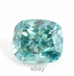 1.86 carat Fancy vivid Blue Loose Natural Diamond Cushion Cut Certified PERFECT