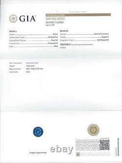 1 CARAT GIA CERTIFIED SAPPHIRE ROUND CUT NATURAL LOOSE RICH BLUE EARTH MINED 1ct