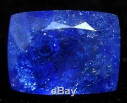 10.45 Ct Natural Deep Violet Blue Tanzanite Untreated Certified Loose Gem Stone
