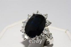 $100,000 14.25ct Agl Certified Natural No Heat Sapphire & Diamond Platinum Ring
