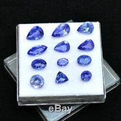 11.65 Ct GTL Certified Natural Tanzanite Lusturous Blue Top Sparkling Gemstone
