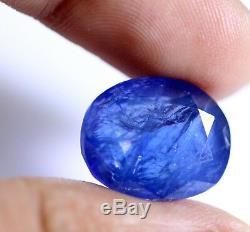 14.80 Ct Natural Blue Sapphire Loose GII Certified No Heat Burma (Mogok) 14x12