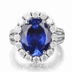 14KT White Gold 2.20 Carat Natural Blue Tanzanite EGL Certified Diamond Ring