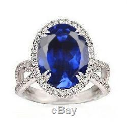 14KT White Gold 2.35 Carat Natural Blue Tanzanite EGL Certified Diamond Ring