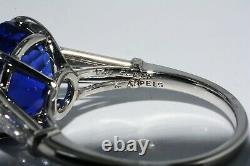 159,000 7.79ct Certified Authentic Van Cleef & Arpels Sapphire & Diamond Ring