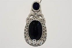 $161,000 126.96ct Agl Certified Huge Natural No Heat Sapphire & Diamond Pendant