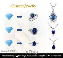 17.29 Carats GRS Certified Natural Unheated Blue SapphireLoose Gemstone Sri L