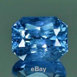 18k Gold 12.79 Ct. Unheated Gia Certified No Heat Blue Sapphire Diamond Ring