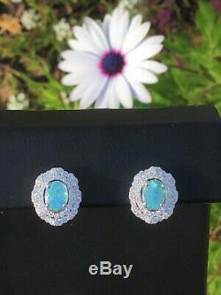 18k Gold 5.78 Ct. Certified Gia Neon Blue Paraiba Tourmaline Diamond Earrings