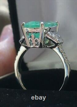 18k Gold 6.97 Ct. Certified Gia Neon Cushion Paraiba Tourmaline Diamond Ring