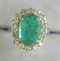 18k Gold 9.50 Ct. Certified Gia Large Neon Paraiba Tourmaline Diamond Ring