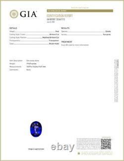 19.49 Ct GIA Certified AAAAAA Natural D Block Tanzanite Blue Violet Oval Cut