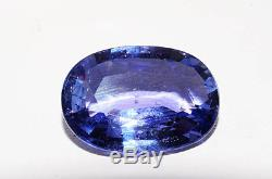 $19,500 5.89Ct Lapis Gem Certified Natural No Heat Oval Blue Sapphire