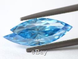 2.00 carat Fancy Vivid Blue VS2 Loose Natural Diamond Cut GIA Certified UNIQUE