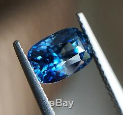 2.02 ct Natural Heated Teal Blue Sapphire Certified Cushion VVS