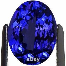 2.03 Ct IGI Certified AA+ Natural D Block Tanzanite Blue Violet Color Oval Cut