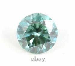 2.06 CT Loose Natural Diamond Fancy vivid Blue VS2 Round Brilliant Certified