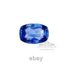 2.06 ct Unheated Cushion Cut Blue Ceylon Natural Sapphire GIA Certified