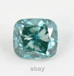 2.08 CT Loose Natural Diamond Fancy vivid Blue Cushion Cut VS2 Certified RARE