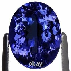 2.08 Ct IGI Certified A+ Natural D Block Tanzanite Blue Violet Color Oval Cut