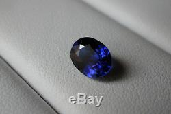 2.16 CT GIA Certified Natural Kashmir Sapphire Deep Blue Oval Brilliant Cut