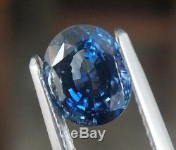 2.16 Ct Certified Natural Unheated Teal Blue Sapphire Oval Flawless