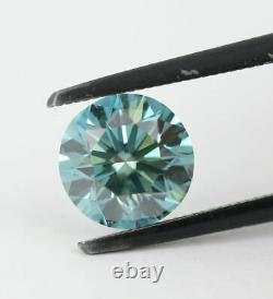 2.19 CT Loose Natural Diamond Fancy Vivid Blue VS1 Round Brilliant AIG Certified
