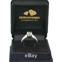 2.20 ct Certified, Off White Diamond Solitaire Ring With Tinge of Blue