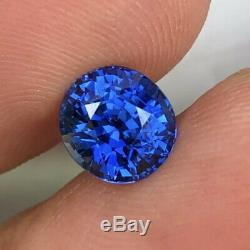 2.26 cts SEE VIDEO Natural Unheated Royal Blue Sapphire Oval Certified