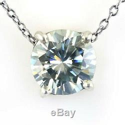 2.40 Ct Certified Off White Diamond Pendant In 925 Silver! Great Shine & Luster
