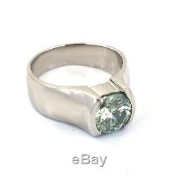 2.5 Ct Blue Diamond Solitaire Unisex Ring, Certified Natural Earth Mined Diamond