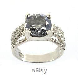 2.5 Ct Certified Natural Earth Mined Blue Diamond Ring, Excellent Cut & Luster