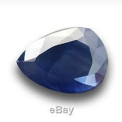 2.58 CTS Natural Deep Blue sapphire Loose GemstoneNew Certified Sri Lanka