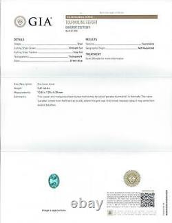 2.61ct PARAIBA TOURMALINE GIA CERTIFIED ELECTRIC BLUE OVAL SHAPE CUT LOOSE 2.5ct