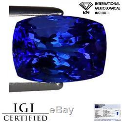2.72 Ct IGI Certified AAA+ Natural D Block Tanzanite Violet Blue Cushion Cut