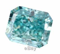 2.86 CT Loose Natural Diamond Fancy Vivid Blue VS1 Radiant Cut GIA Certified