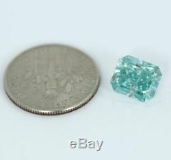 2.86 carat Fancy Vivid Blue VS1 Loose Natural Diamond Radiant Cut GIA Certified
