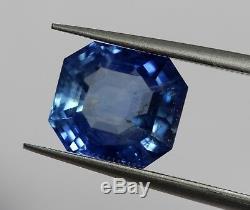 2.91 Ct Sri-Lanka IGI Certified NO Heat Natural Blue Sapphire Octagon Loose AA+