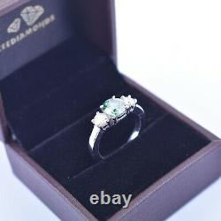 2 Ct Certified Designer Blue Diamond Ring With Diamonds Accents- Great Sparkle