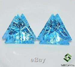 20.49 Cts Certified Natural Blue Topaz Fancy Laser Cut 16x14 mm Loose Gemstones