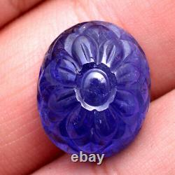21.00 Cts Natural Tanzanite GTL Certified Magnificent Blue AAA Carved Gemstone