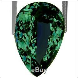 22.10 Ct GIA Certified AAA Natural D Block Tanzanite Blue Green Pear Cut