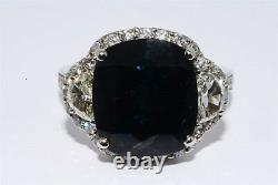 $29,990 10.61ct Certified Natural No Heat Sapphire & Diamond Cocktail Ring 14k
