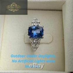 3.03 TCW AIGS Certified Natural Unheated Blue Sapphire in Platinum Diamond Ring