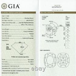 3.23 carat Fancy vivid Blue Flawless Loose Natural Diamond GIA Certified RARE