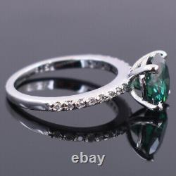 3.30 Ct Certified Blue Diamond Solitaire Ring! Anniversary Gift-Excellent Luster